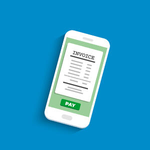 pay invoice on iphone graphic