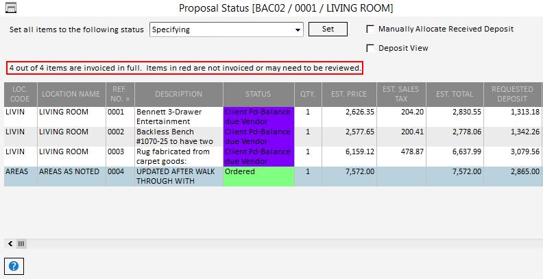 Pro Proposal Status1