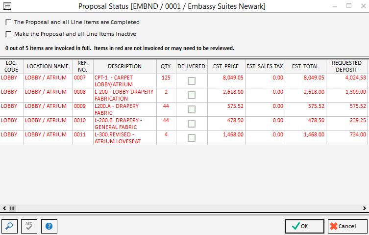 Std Proposal Status
