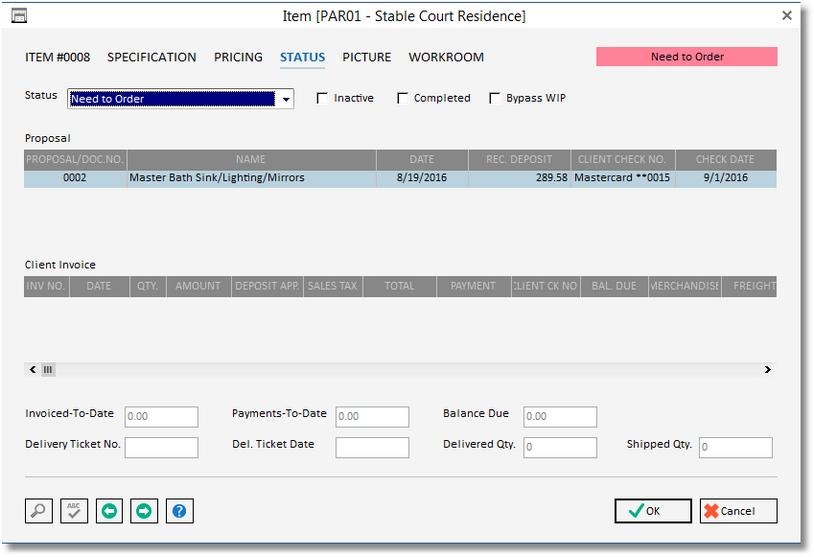 item -status window