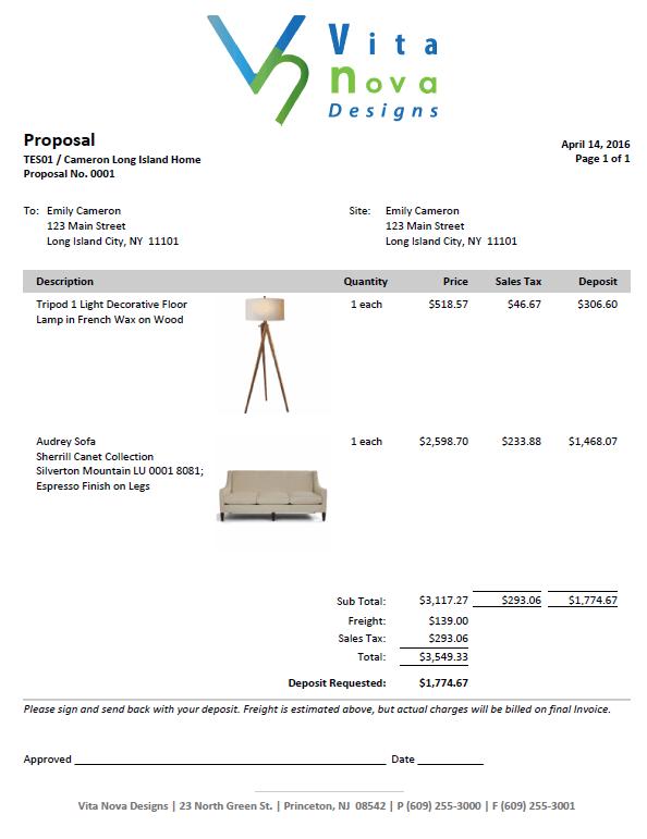 modern proposal with deposit