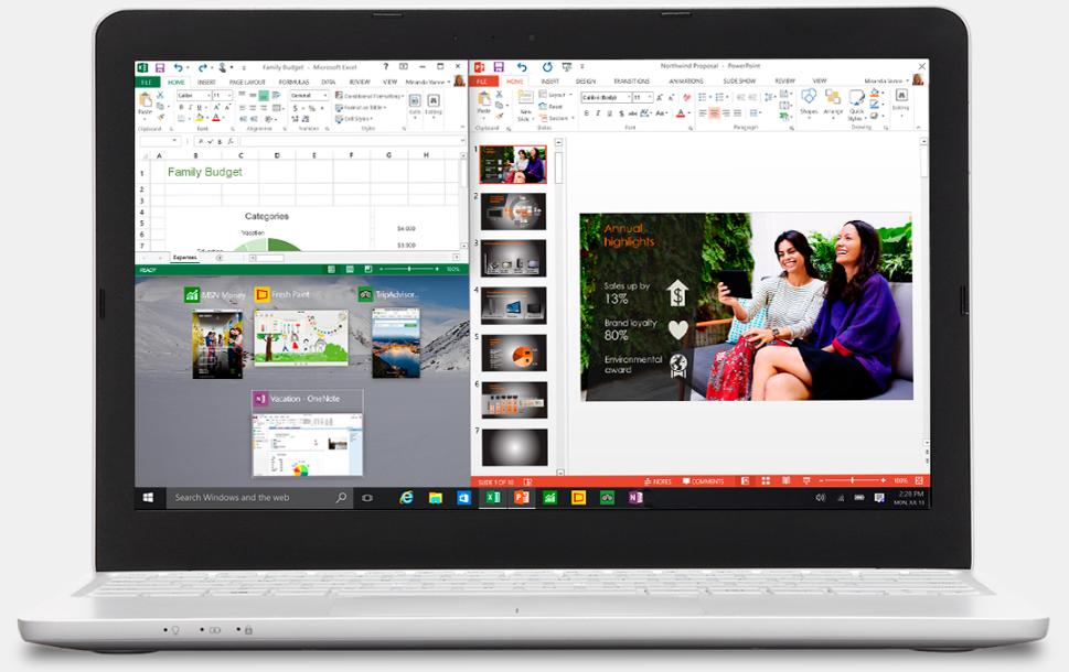 windows 10 multi screen view