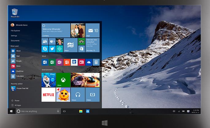 windows 10 upgrade start menu