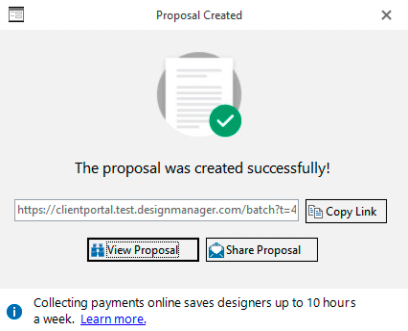 Proposal Created Successfully