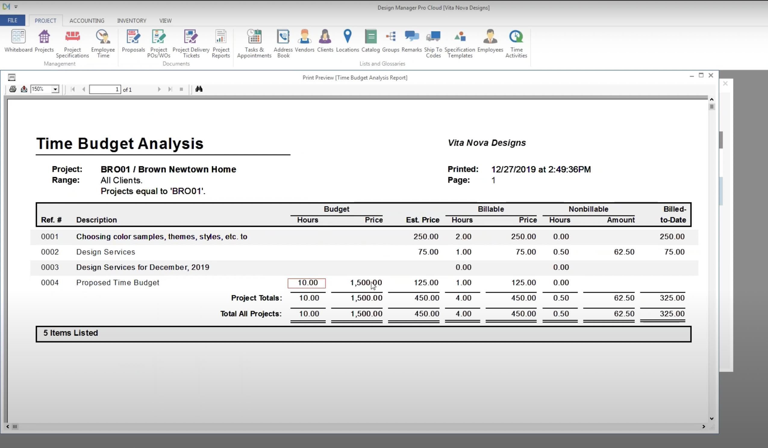 Time Budget Analysis