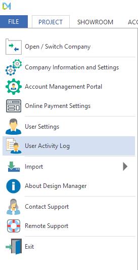 User Activity log 1