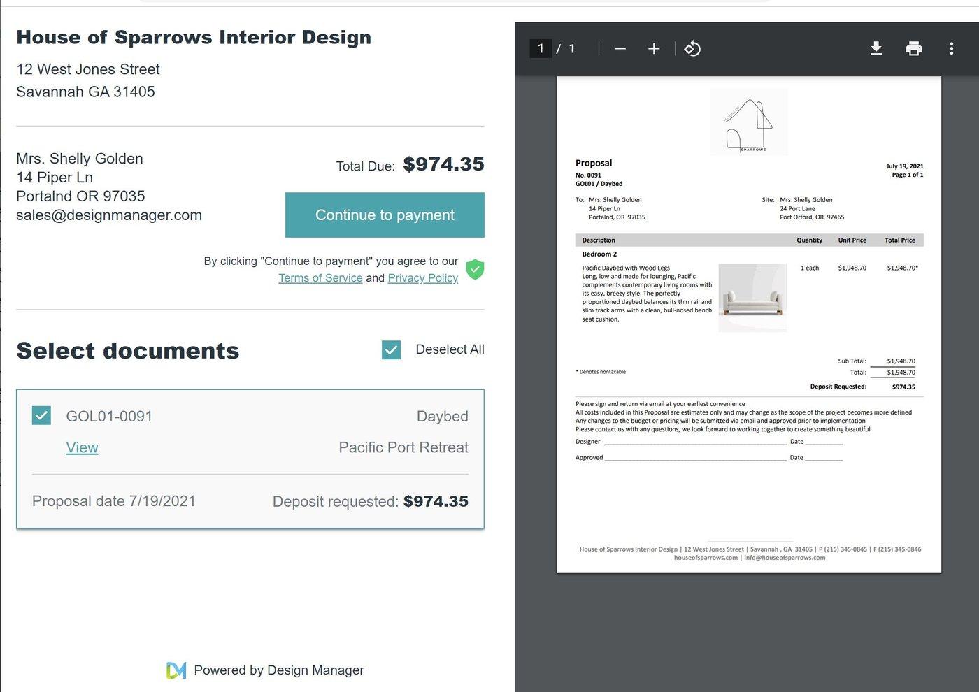 client portal screenshot release 545