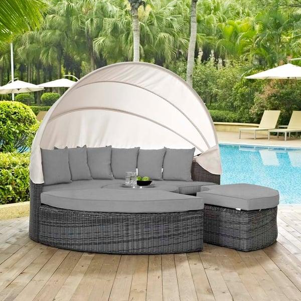 modway furniture rattan sunbrella