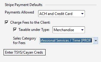 stripe payment details